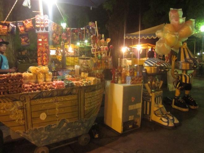 Lots of stalls at the night market Mendoza, Argentina, Jan 2014