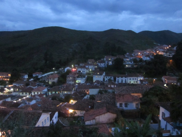 Night settles upon the town Ouro Preto, Brazil, Apr 2014