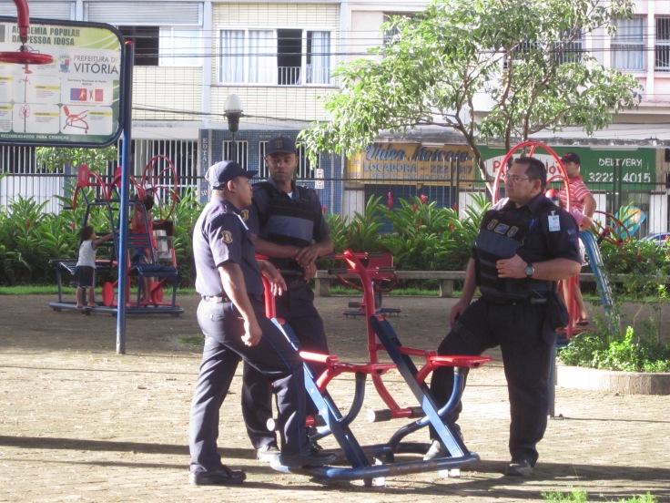 Law enforcement doing their jobs Vitoria, Brazil, Apr 2014