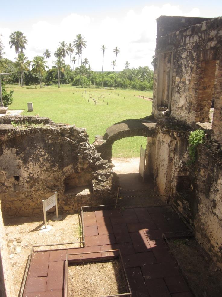 Very well preserved ruins Praia do Forte, Brazil, Apr 2014